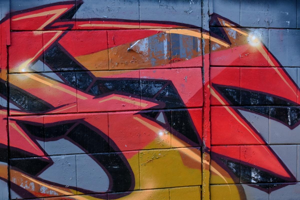 σπίθα, στυλ, γκράφιτι, βανδαλισμός, τέχνη, σπρέι, καλλιτεχνική, Σχεδιασμός, τοίχου, Οδός