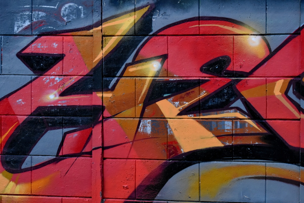 stadsområde, väggen, skadegörelse, graffiti, konstnärliga, spray, konst, design, urban, Airbrush