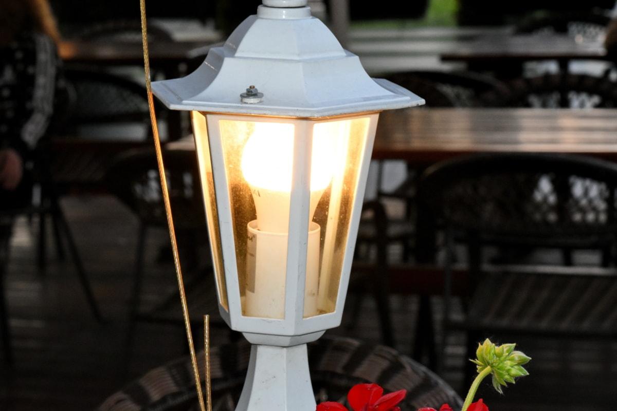 uređaj, lampa, električne energije, staklo, svjetlo, lanterna, ulica, stari, osvijetljeno, tamno