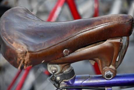 antiquity, history, leather, old, seat, classic, wheel, device, vehicle, bike