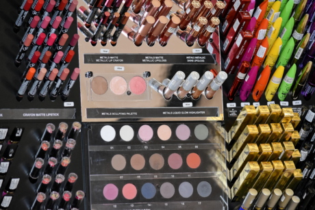 cosmetics, crayons, lipstick, fashion, glamour, merchandise, color, palette, collection, colorful