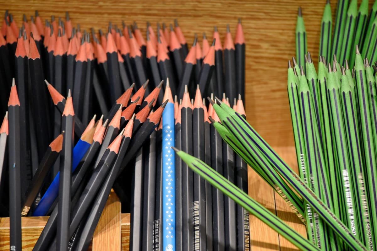 รูปวาด, โรงเรียน, การศึกษา, ไม้, ดินสอ, ความคิดสร้างสรรค์, วิทยาลัย, กอง, อุปกรณ์, หลาย