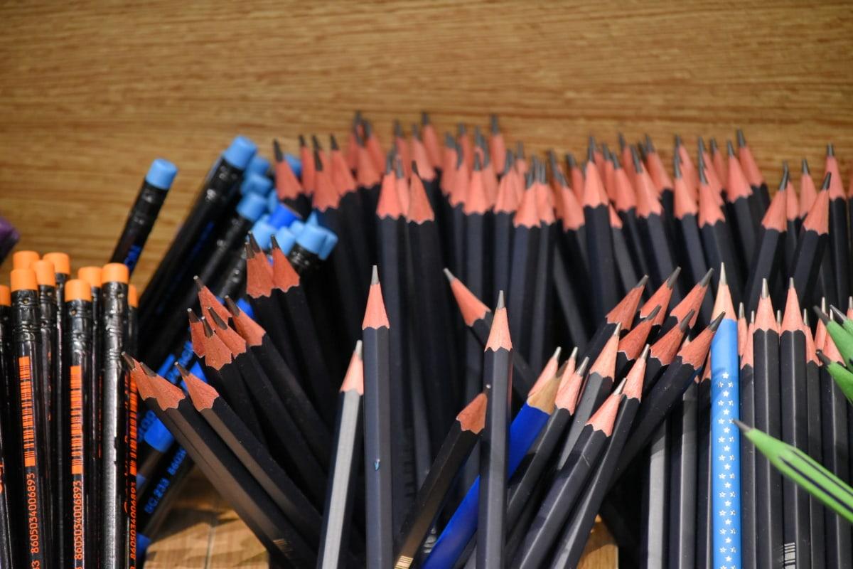 penna, skolan, utbildning, trä, högskola, kreativitet, utrustning, konst, färg, konstnärliga