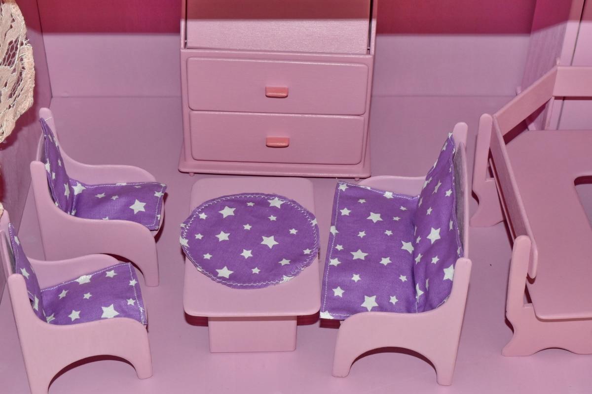cadeiras, feito à mão, Sala de estar, em miniatura, brinquedos, de madeira, móveis, dentro de casa, assento, cadeira