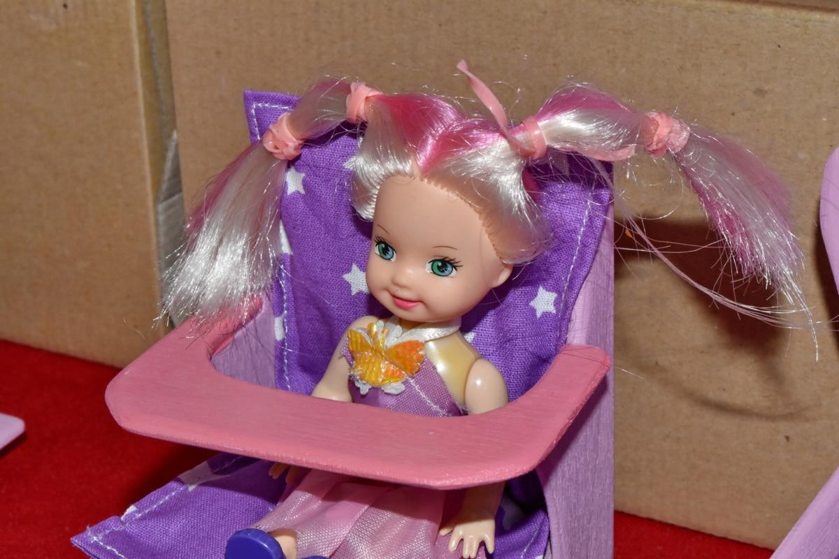 boneca, feito à mão, em miniatura, rosado, adorável, bebê, celebração, Alegre, Cor, bonito