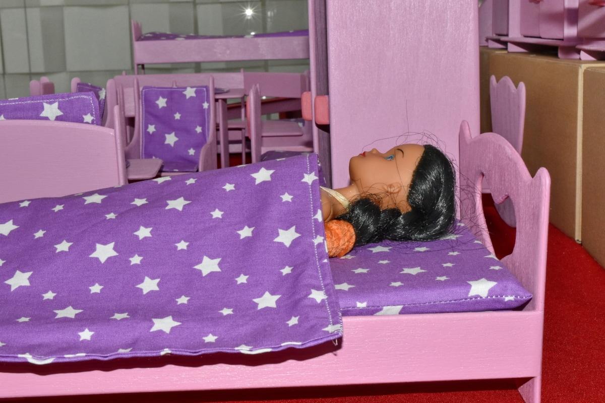 Foto gratis: camera da letto, bambola, cuscino, dormire ...
