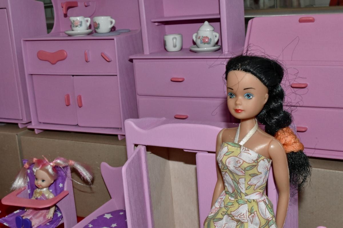con gái, búp bê, làm bằng tay, thu nhỏ, mẹ, đồ chơi, cửa hàng đồ chơi, Tủ lạnh, trẻ em, Cô bé