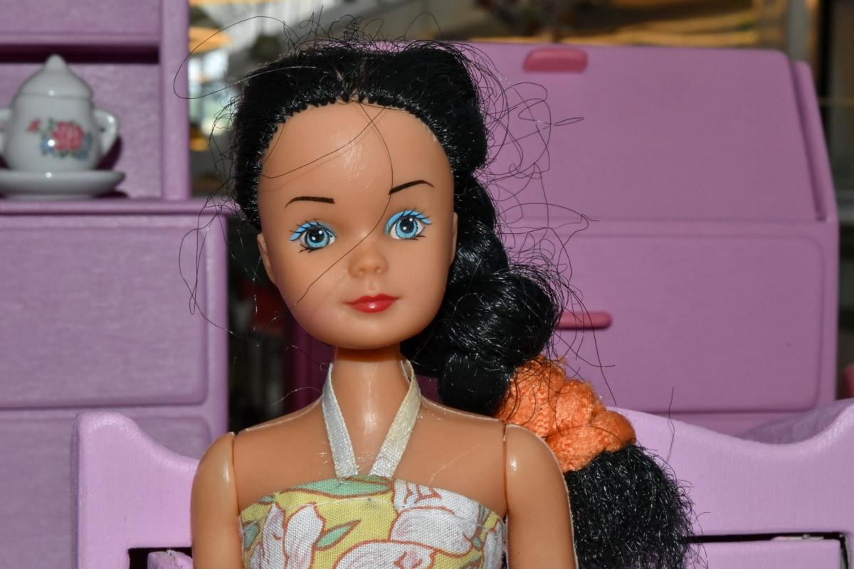 Миниатюра, Фото модели, магазин игрушек, кукла, моды, модель, Портрет, волосы, девушка, платье