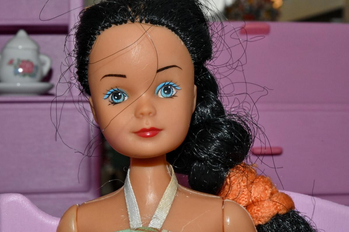 dukke, ansigt, Portræt, Smuk pige, attraktive, makeup, mode, gøre, hår, model