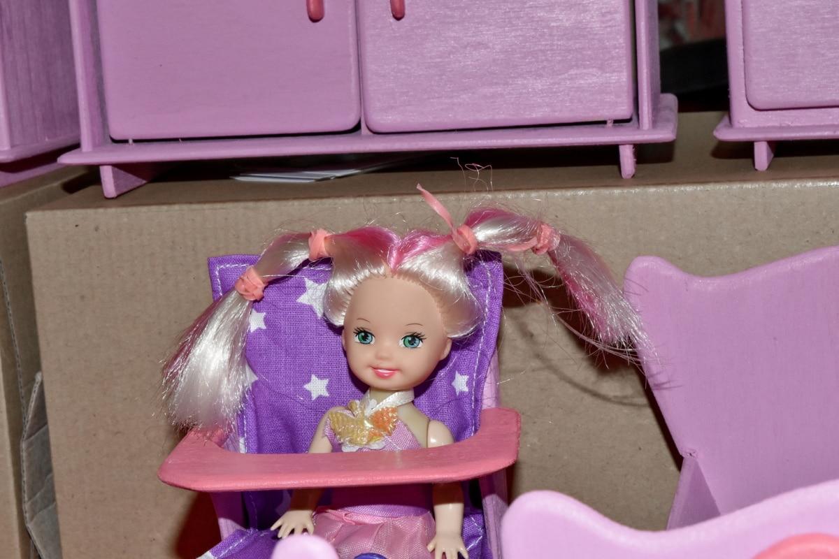 møbler, leker, gutt, barndommen, dukke, barn, rom, stol, leketøy, sete