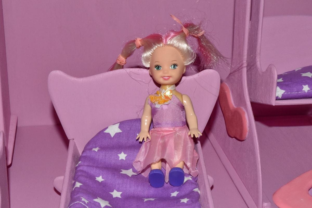 Dekorasyon, Bez Bebek, Pembemsi, oyuncaklar, Çocuk, portre, güzel, kapalı, mobilya, mutluluk