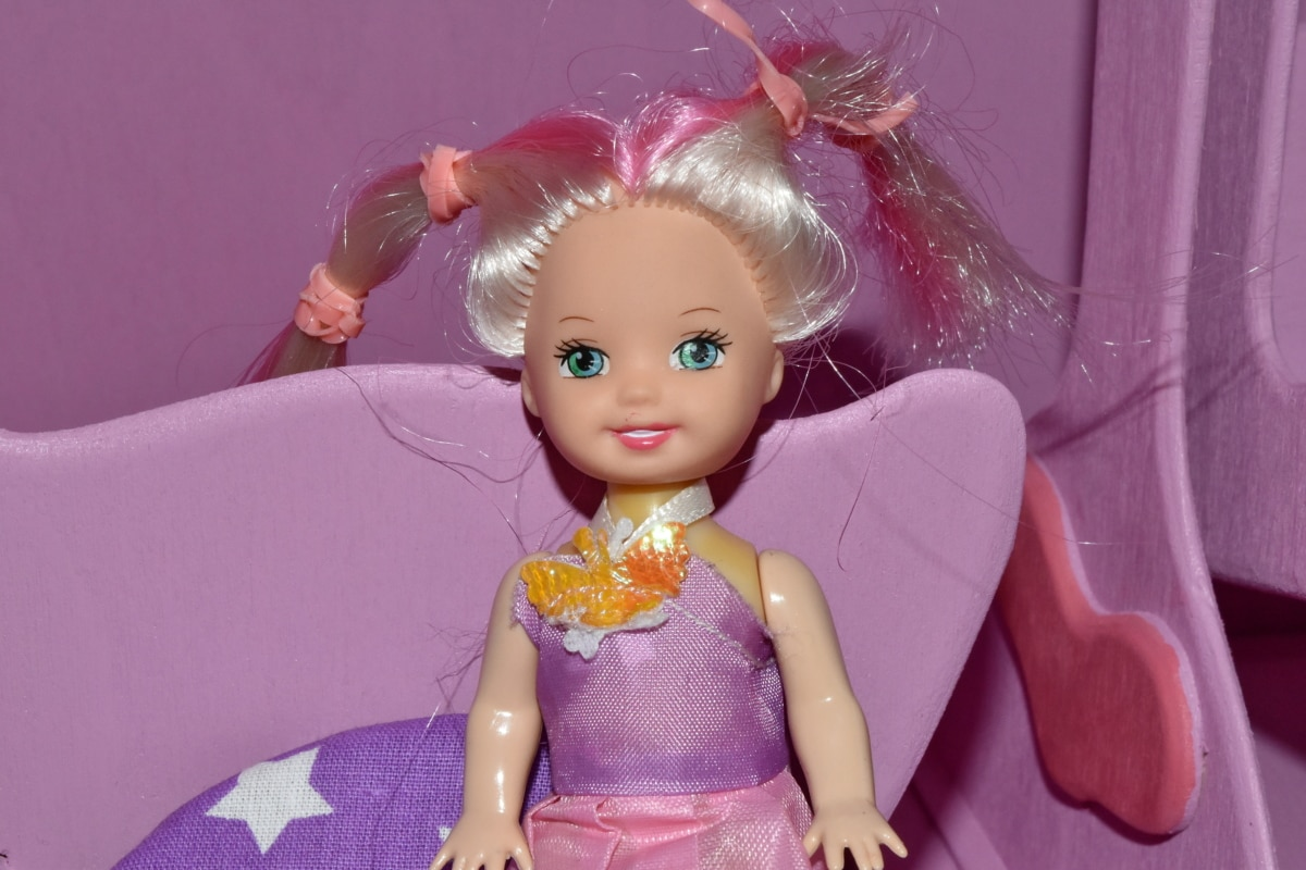 lalka, twarz, portret, ładny, piękne, mody, modelu, zabawa, Kolor, dziecko