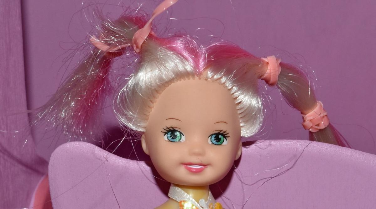 muñeca, sonrisa, cara, cabello, vertical, moda, hermosa, diversión, lindo, Color
