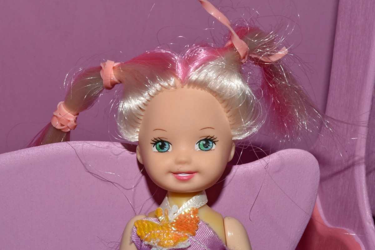 娃娃, 肖像, 女孩, 时尚, 乐趣, 美丽, 可爱, 颜色, 头发, 室内