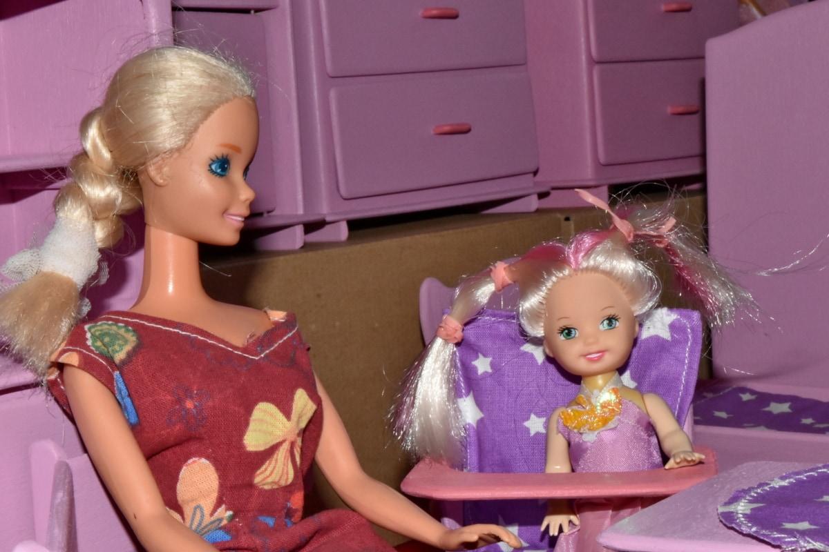 Bebek, minyatür, Anne, üst, oyuncaklar, oyuncak dükkanı, Bez Bebek, Kız, kapalı, insanlar