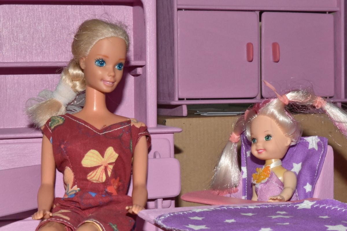 lalki, Rodzina, meble, miniaturowe, lalka, Dzieciństwo, dziecko, Dziewczyna, sukienka, mody