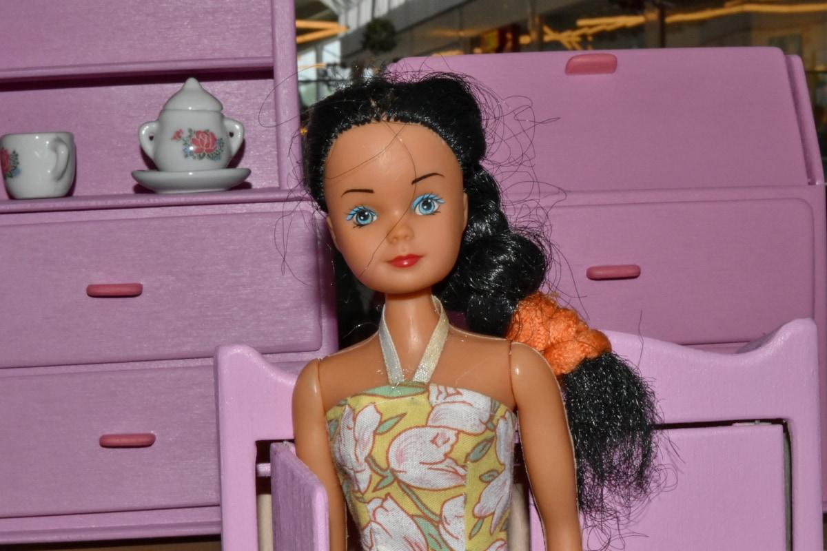 kuhinja, igračke, lutka, portret, soba, namještaj, modela, igračka, modni, slatka