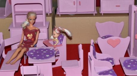 Detaljer, möbler, handgjorda, rum, leksaker, Hem, stol, kvinna, personer, inomhus