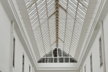 architecture, atrium, ceiling, wall, window, indoors, contemporary, building, blind, perspective