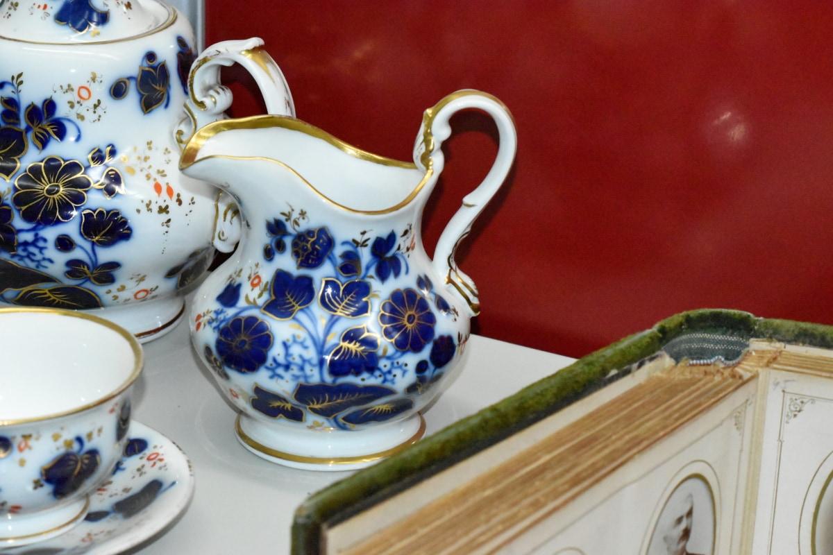 Krug, Container, Teekanne, Porzellan, Tasse, Töpferei, Kunst, Keramik, Geschirr, Still-Leben
