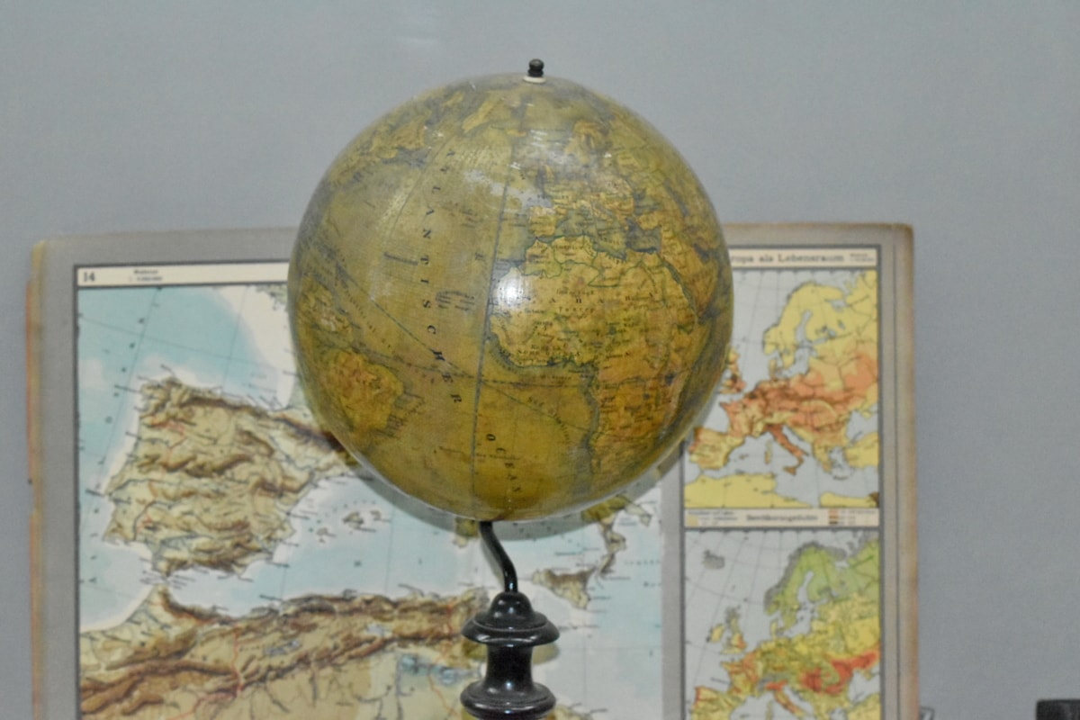 istraživanje, zemljopis, Karta, znanost, sfera, globus, kupola, svijet, zemlja, globalne