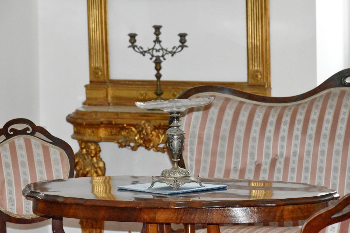 Antik dönem, Barok, zarif, lüks, iç tasarım, kapalı, Antik, mobilya, koltuk, Oda