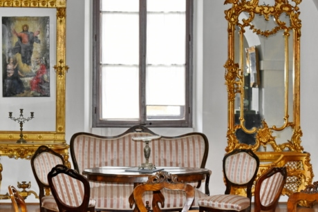 interior design, luxury, room, chair, furniture, seat, indoors, mirror, home, antique