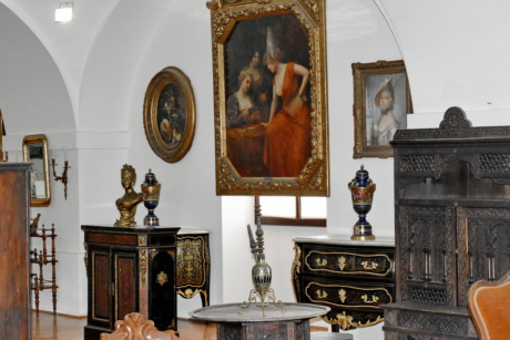 furniture, altar, interior design, structure, home, room, painting, seat, indoors, art