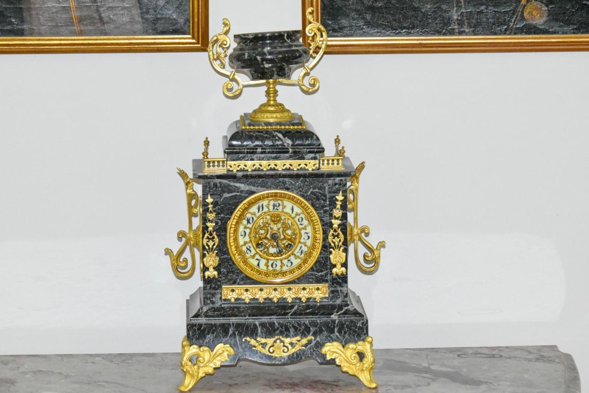 antichità, barocco, orologio, fatto a mano, marmo, arte, lusso, antica, vecchio, architettura