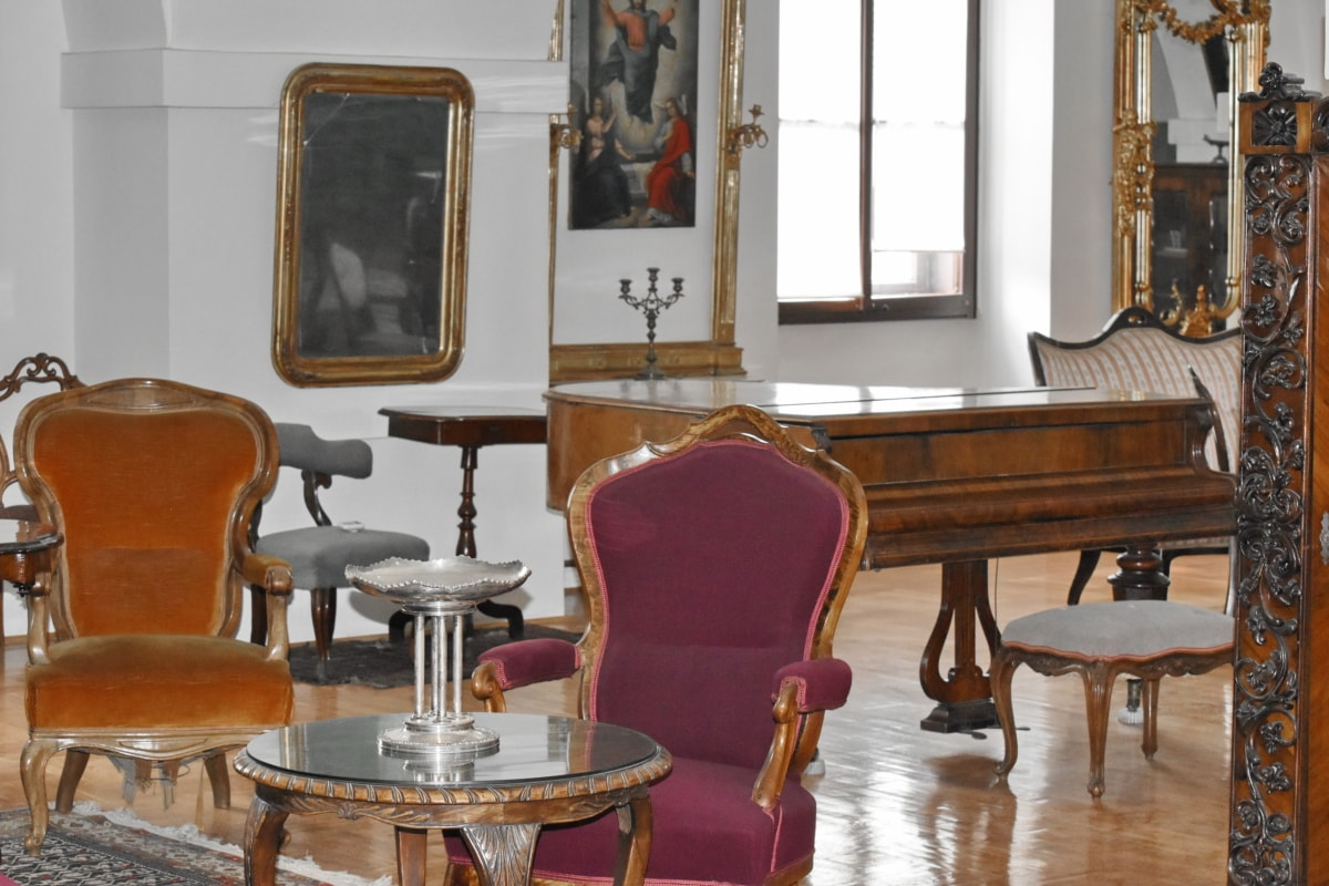 antiquity, baroque, stool, house, interior design, seat, chair, room, furniture, home