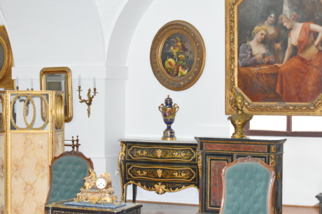 baroque, fine arts, antique, furniture, interior, interior design, painting, mirror, home, room