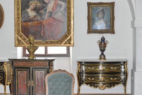 antiquity, furniture, room, interior design, painting, seat, art, indoors, luxury, museum