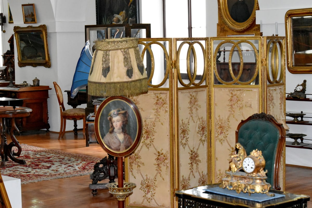 antiquity, room, chair, lamp, furniture, interior design, seat, home, house, luxury