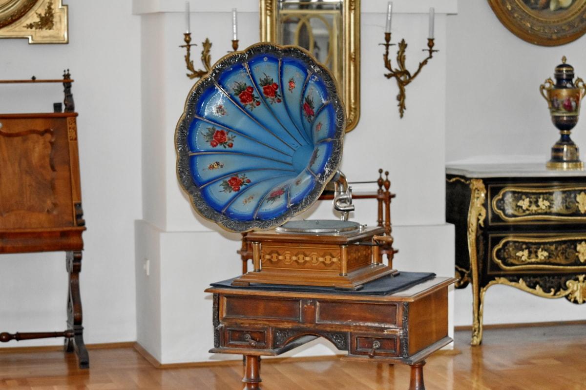 barroco, nostalgia, máquina, muebles, diseño de interiores, pintura, antiguo, habitación, Inicio, asiento