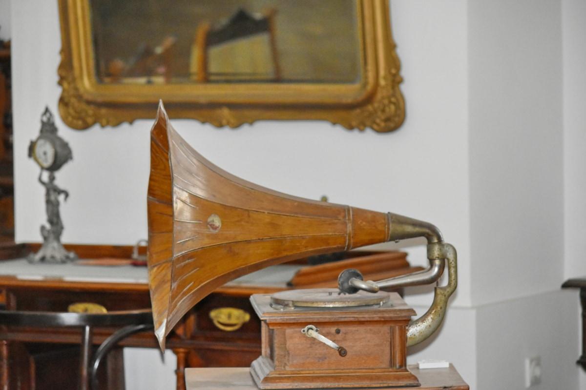 เฟอร์นิเจอร์, เครื่อง, อุปกรณ์, ไม้, เพลง, ทองเหลือง, ความคิดถึง, เก่า, ในที่ร่ม, คลาสสิก