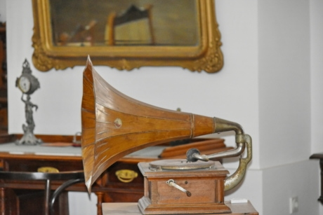 furniture, machine, device, wood, music, brass, nostalgia, old, indoors, classic