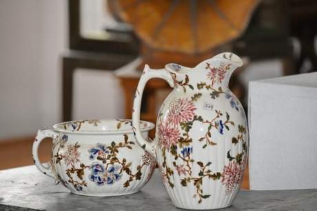 ceramic, ceramics, pitcher, cup, earthenware, pottery, teapot, porcelain, interior design, traditional