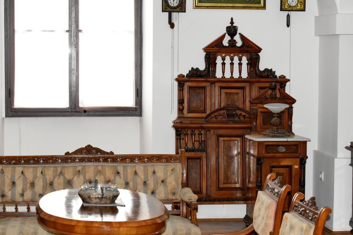 mahogni, møbler, arkitektur, interiørdesign, stol, innendørs, rom, hjem, tre, sete