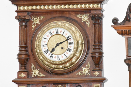 analog clock, baroque, handmade, wooden, clock, timepiece, time, antique, minute, old