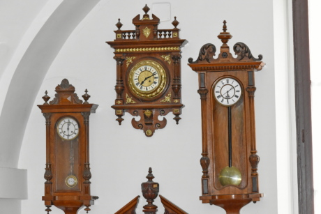 analog clock, antiquity, baroque, carving, details, handmade, wall, time, antique, clock