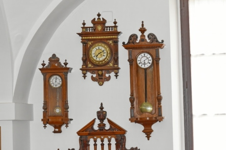 analog clock, baroque, museum, old, interior design, architecture, antique, classic, indoors, home