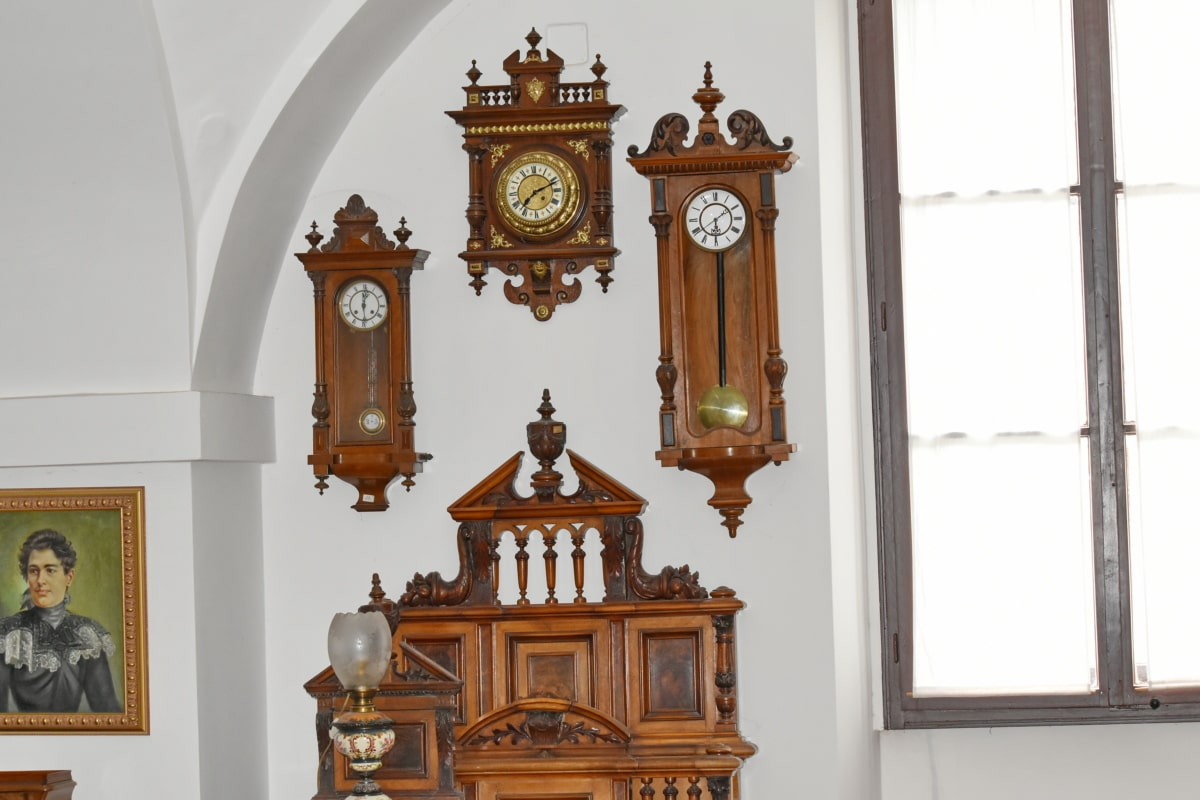analog clock, antiquity, baroque, cabinet, wooden, interior design, architecture, religion, church, altar