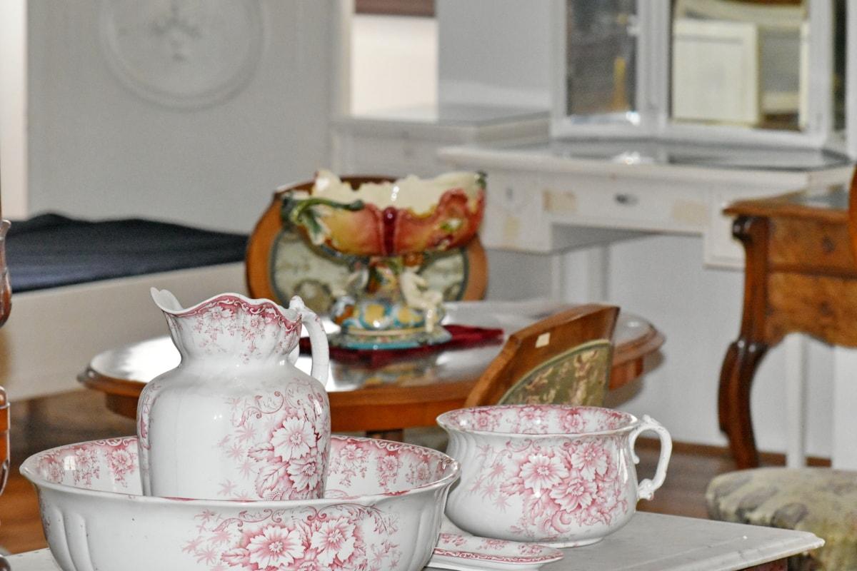 Порцеляна, чайник, дизайн інтер'єру, Кубок, Посуд, Кава, сніданок, Таблиця, в приміщенні, Меблі