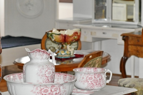 porcelain, teapot, interior design, cup, tableware, coffee, breakfast, table, indoors, furniture