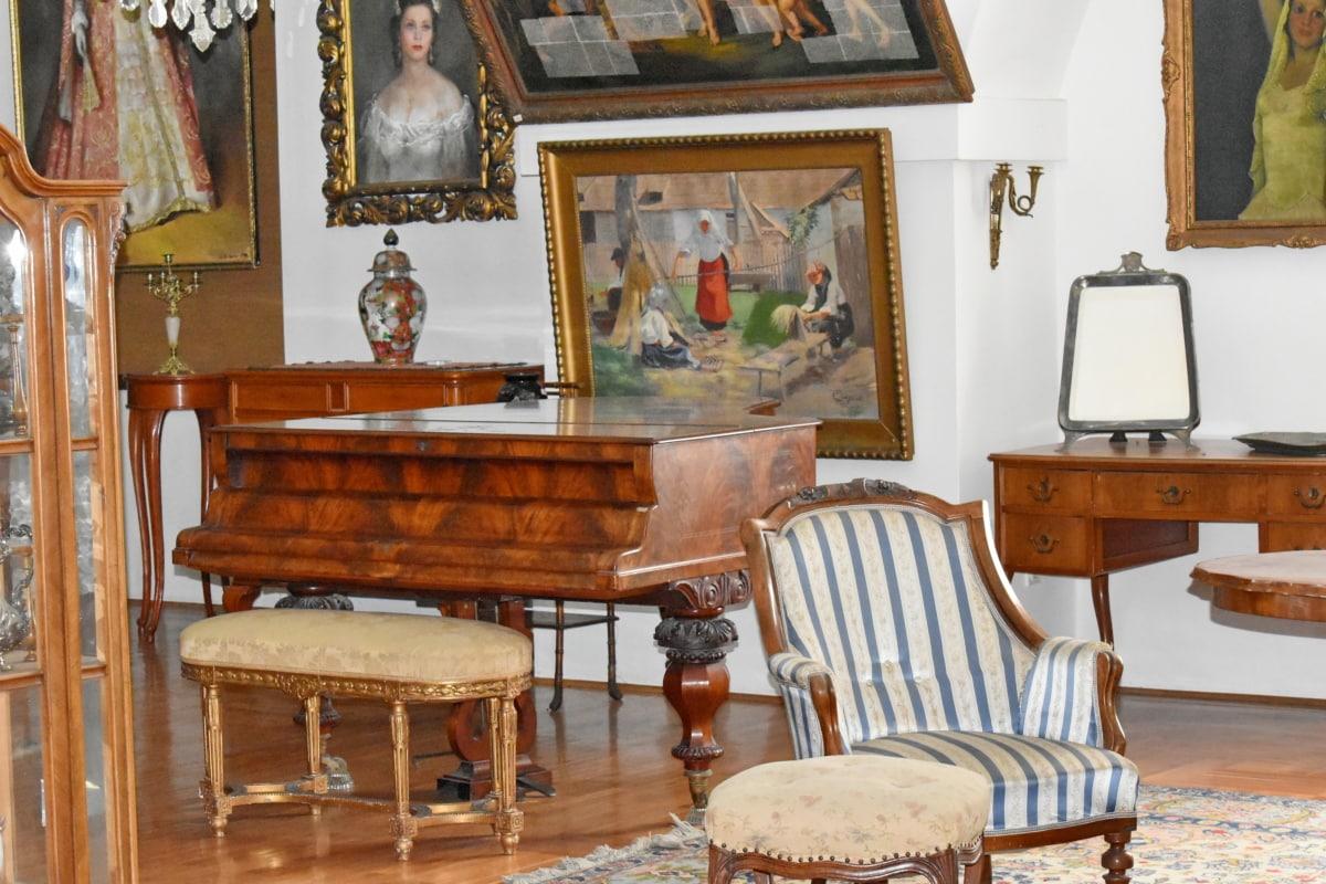 namještaj, klavir, stolica, stolica, dizajn interijera, soba, Tablica, sjedište, unutarnji prostor, drvo