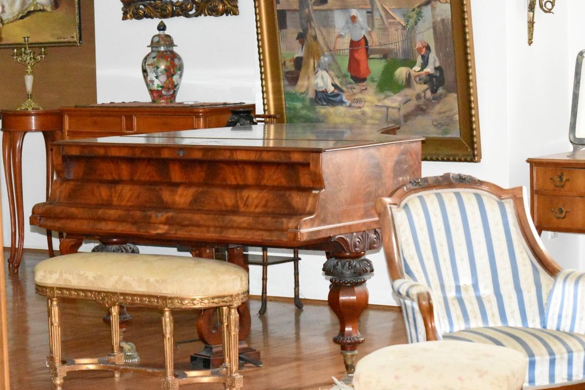 barroco, piso, Taburete, muebles, tabla, habitación, diseño de interiores, silla, asiento, adentro