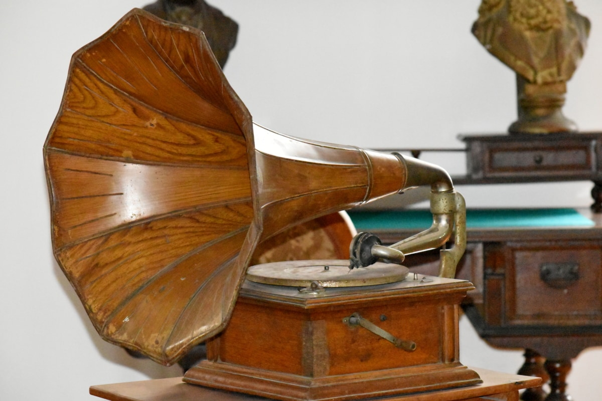 古代, バロック様式, 音楽, オブジェクト, レコーディング, デバイス, アンティーク, 古い, 懐かしさ, 木材