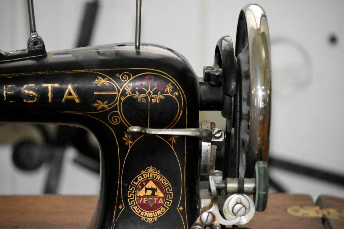 ókor, varrás, varrógép, szüret, régi, antik, klasszikus, nosztalgia, gépek, iparág
