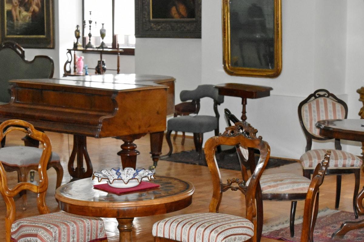 Барок, удобни, стая, интериорен дизайн, мебели, стол, Домашно огнище, къща, таблица, седалка