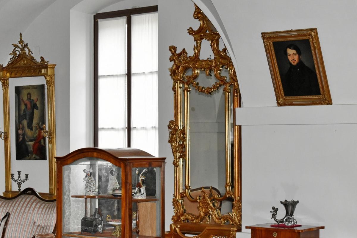 barokki, Sisustussuunnittelu, talo, kaappi, Etusivu, istuin, huone, huonekalut, sisätiloissa, peili